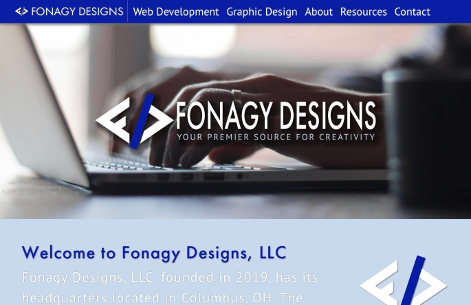 Screenshot of Fonagy Designs, LLC website.